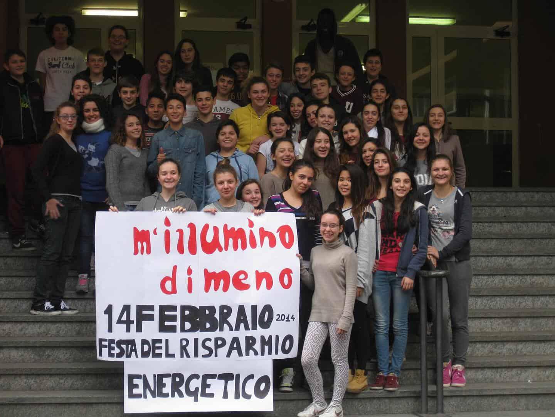M'illumino di meno all'Istituto Comprensivo Rapallo ridotta
